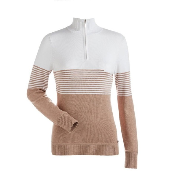 NILS RILEY SWEATER white copper